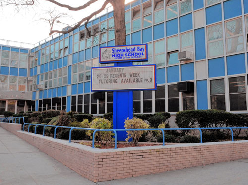 New Visions Charter High School for Advance Math and Science III (AMS II) on the Sheepshead Bay High School campus.