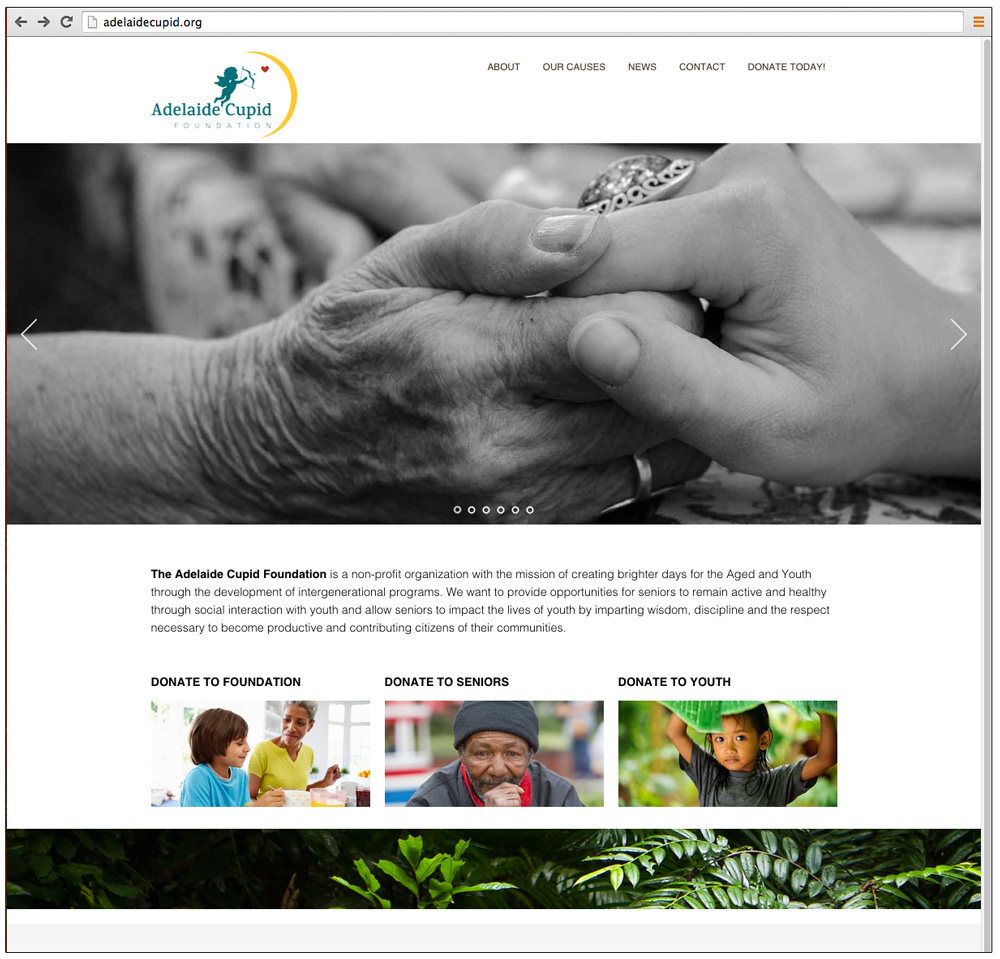 Adelaide Cupid Foundation Website by Ashalla Design Shop